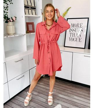 JANNE SHIRT DRESS - OLD ROSE