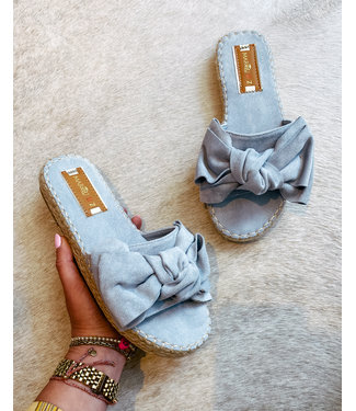 BOW SLIPPER - BLUE