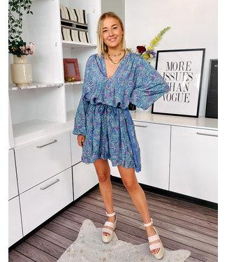 SERENA DRESS - BLUE 530