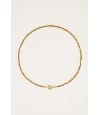 GOLD SMALL LOCK NECKLACE