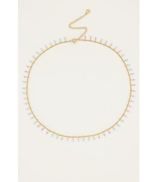 GOLD NECKLACE PASTEL