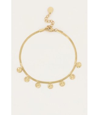 GOLD BRACELET WITH COINS