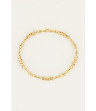 GOLD SUNROCKS BANGLE BRACELET 3196