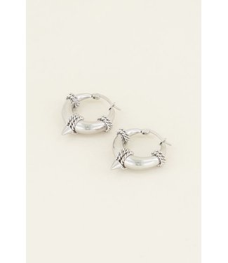SMALL SILVER STATEMENT EARRINGS
