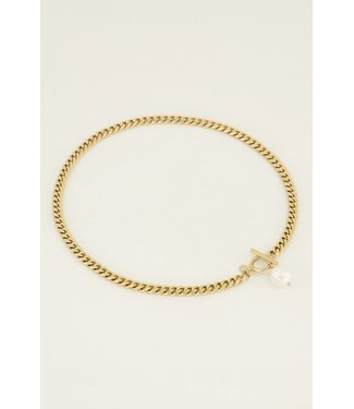 GOLD CHAIN NECKLACE PEARL 616