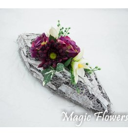 Magic Flowers Witte berkenschors schaal