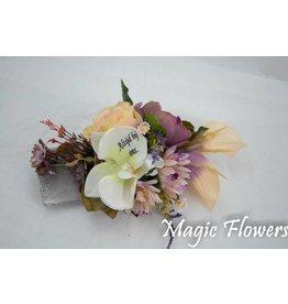 Magic Flowers Stenen schaaltje  met bedrukte bloem