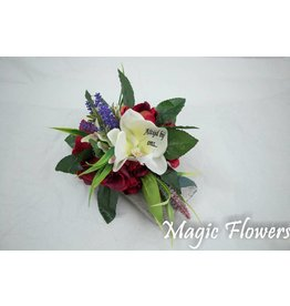 Magic Flowers Stenen schoteltje met bedrukte bloem
