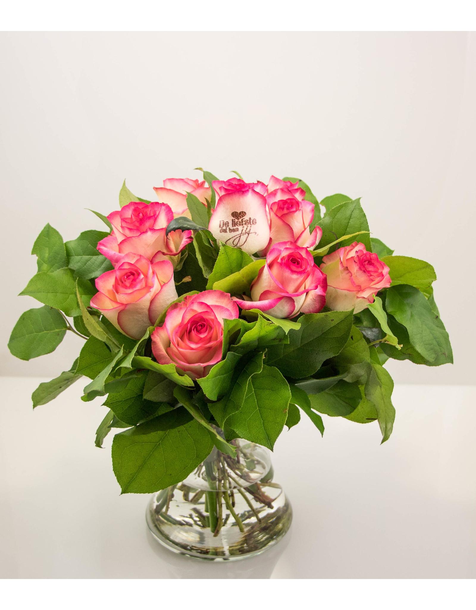 Magic Flowers Boeket 9 rozen - De Liefste dat ben jij