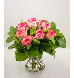 Magic Flowers Boeket 9 rozen - Fijne Moederdag