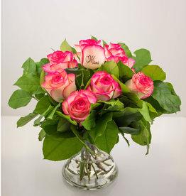 Magic Flowers Boeket 9 rozen - Mama hartje