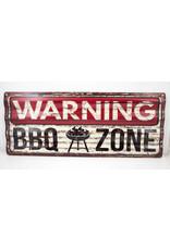 Warning BBQ zone