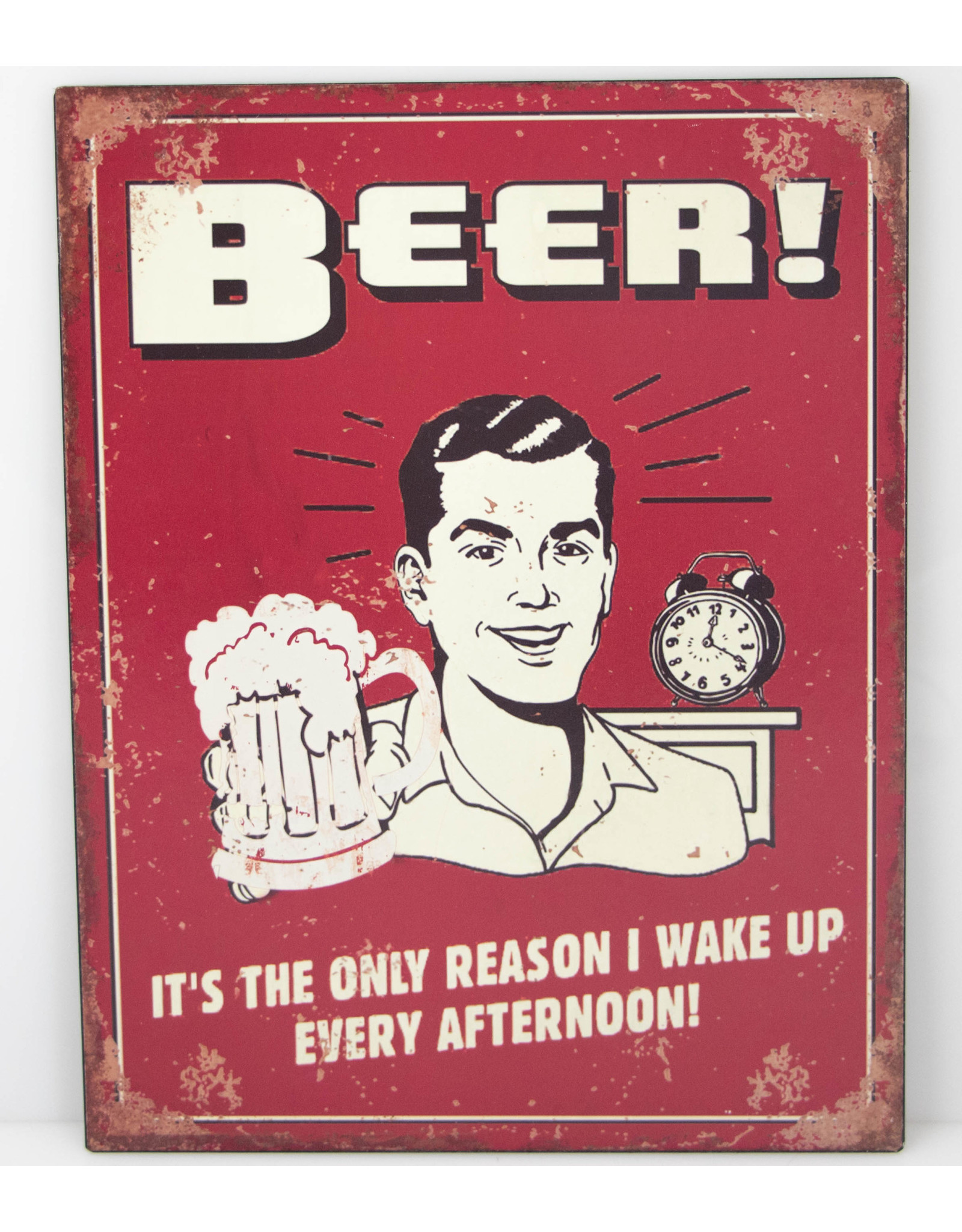 Beer only reason to wake up