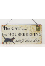 The cat and it's housekeepings staff....