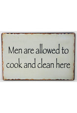 Men are allowed to cook and clean here