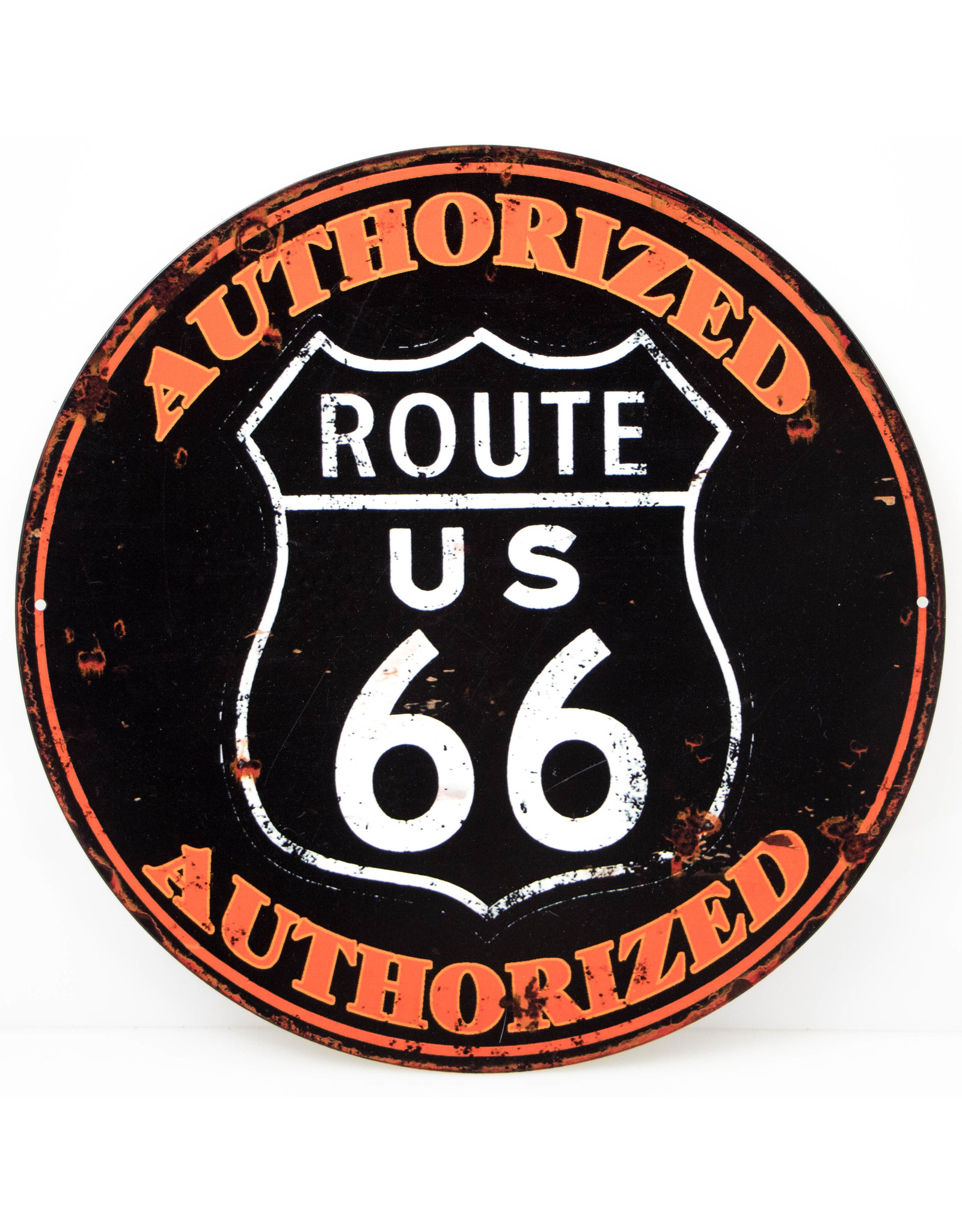 Route 66 (Round Black/Red)