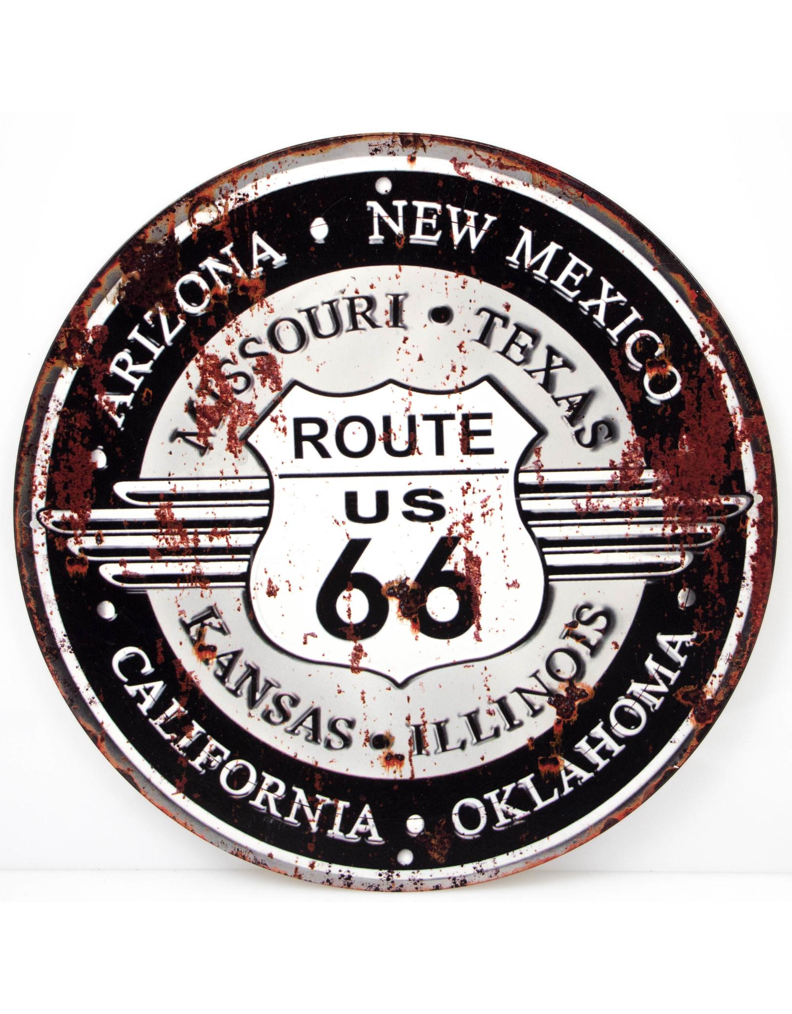 Route 66 (Round Black/grey)