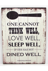 one cannot think wel