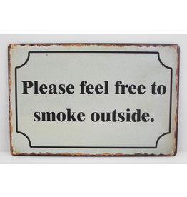 Please feel free to smoke