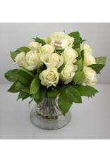 Magic Flowers Boeket 15 rozen - Wit - Gelukkige Verjaardag