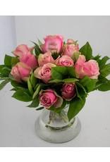Magic Flowers Boeket 15 rozen - Roze - Gelukkige Verjaardag