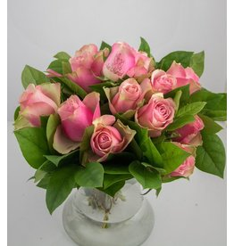 Magic Flowers Boeket 15 rozen - Roze - Just Married