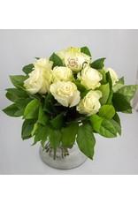 Magic Flowers Boeket 9 rozen - Wit - Mr&Mrs