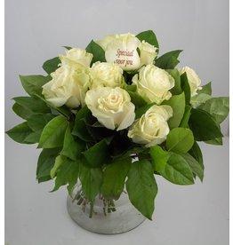 Magic Flowers Boeket 9 rozen - Wit - Speciaal voor jou
