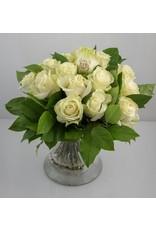 Magic Flowers Boeket 15 rozen - Wit - Mr&Mrs