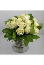 Magic Flowers Boeket 15 rozen - Wit - Welcome Beautiful Baby
