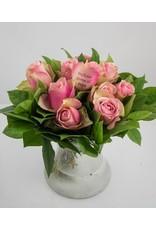 Magic Flowers Boeket 9 rozen - Roze - Proficiat Mama & Papa
