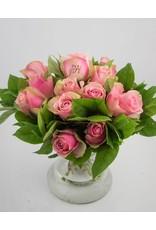 Magic Flowers Boeket 15 rozen - Roze - It's a Girl