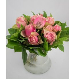 Magic Flowers Boeket 9 rozen - Roze - It's a Boy