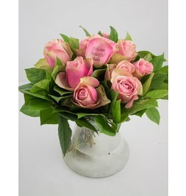 Magic Flowers Boeket 9 rozen - Roze - Welcome Beautiful Baby