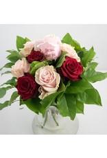 Magic Flowers Boeket 9 rozen - Rood/Roze - Speciaal voor jou