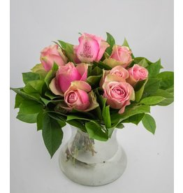 Magic Flowers Boeket 9 rozen - Roze - Just Married