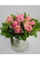 Magic Flowers Boeket 9 rozen - Roze - Happy Birthday
