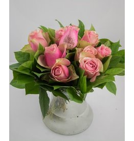 Magic Flowers Boeket 9 rozen - Roze - Happy Birthday