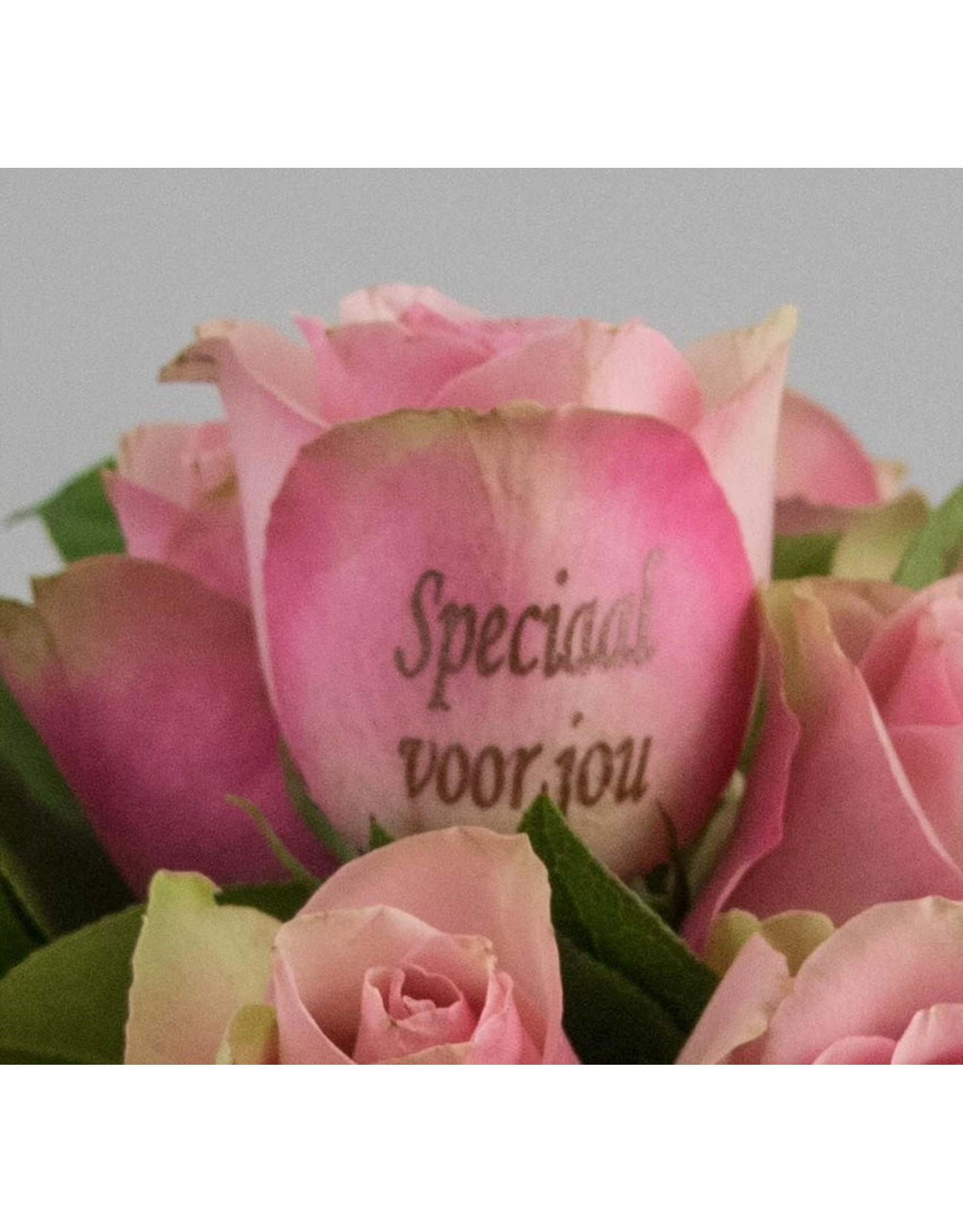 Magic Flowers Boeket 9 rozen - Roze - Speciaal voor jou