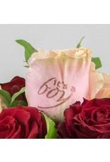 Magic Flowers Boeket 15 rozen - Rood/Roze - It's a Boy