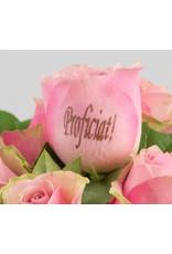 Magic Flowers Boeket 9 rozen - Roze - Proficiat
