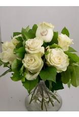 Magic Flowers Boeket 9 rozen - Wit - 50