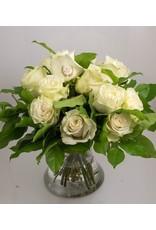 Magic Flowers Boeket 15 rozen - Wit - 25
