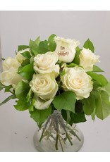 Magic Flowers Boeket 9 rozen - Wit - Een opkikkertje