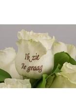 Magic Flowers Boeket 15 rozen - Wit - Zie je graag
