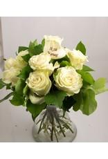 Magic Flowers Boeket 9 rozen - Wit - Zie je graag