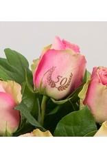Magic Flowers Boeket 15 rozen - Roze - 50