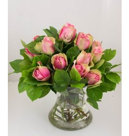 Magic Flowers Boeket 15 rozen - Roze - 50
