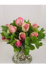 Magic Flowers Boeket 9 rozen - Roze - 50