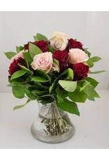 Magic Flowers Boeket 9 rozen - Rood/Roze - 25